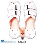 Planche de pieds bois avec attaches cuir