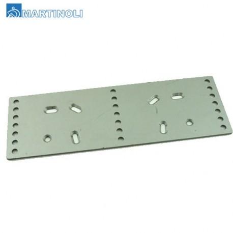 Plaquette aluminium adaptable
